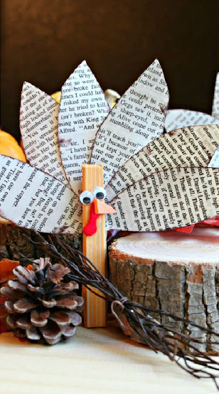 clothespin turkey craft project for kids for the holiday