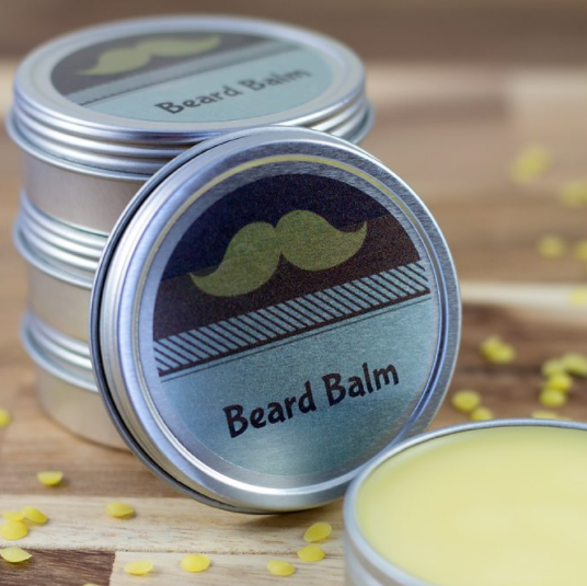 Cedarwood beard balm on a 2 ounce tins