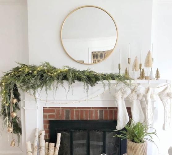 diy faux asymmetrical christmas garland home decor idea