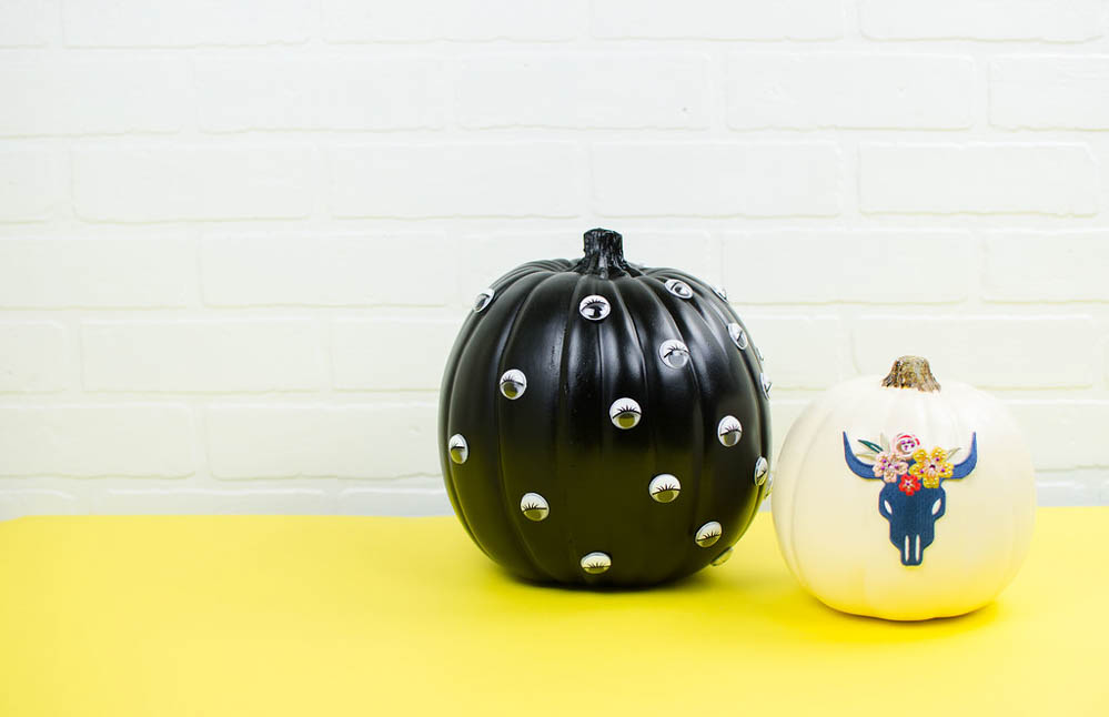 homemade googly eye pumpkin - no carve idea craft for kids halloween