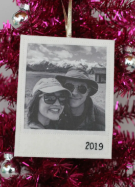 Felt polaroid ornament