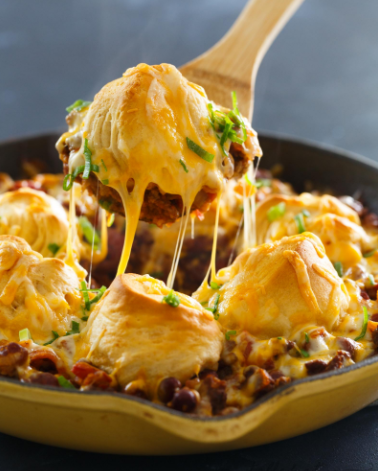 Frito Pie Chili Biscuit Skillet Delicious Comfort Food