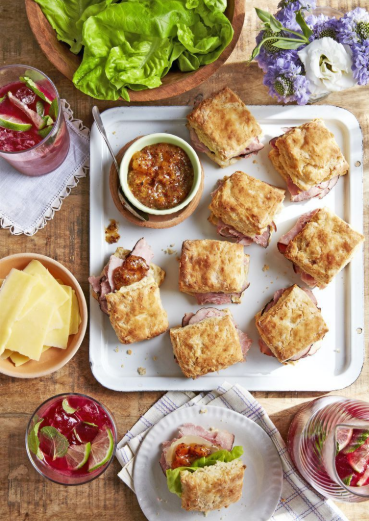 Ham Biscuit Sandwiches With Apricot Mustard