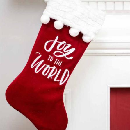 iron-on stocking decal holiday christmas home decor