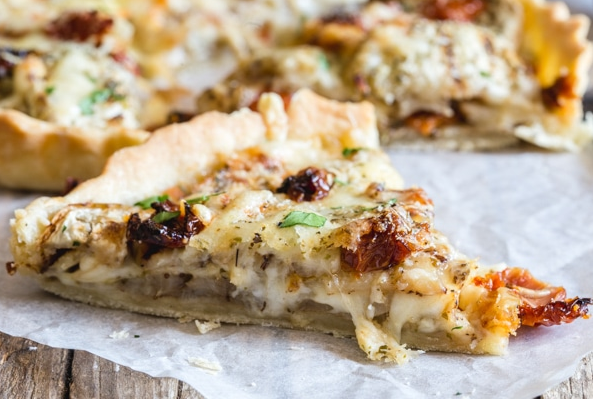 Savory Italian Eggplant Pie Appetizer or Main Dish Perfect For The Summer