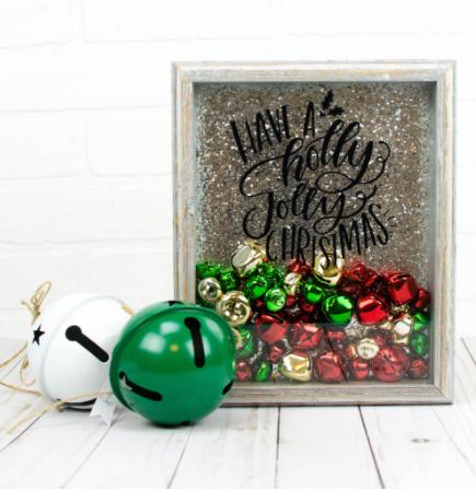 jingle bell christmas shadow box holiday craft to make