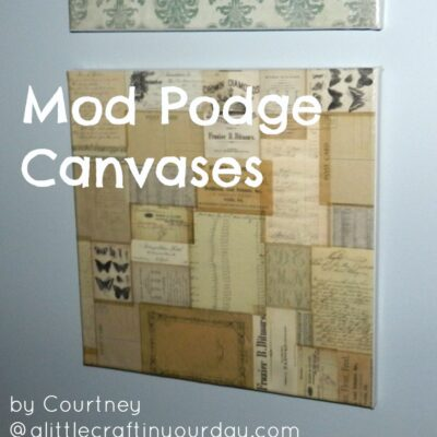 Craft Projects Made with Mod Podge