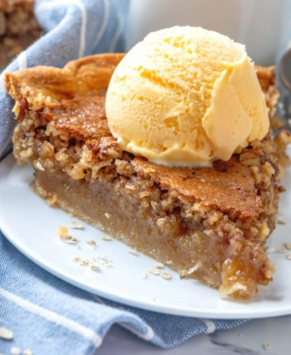 oatmeal pie is a delicious alternative to pecan pie