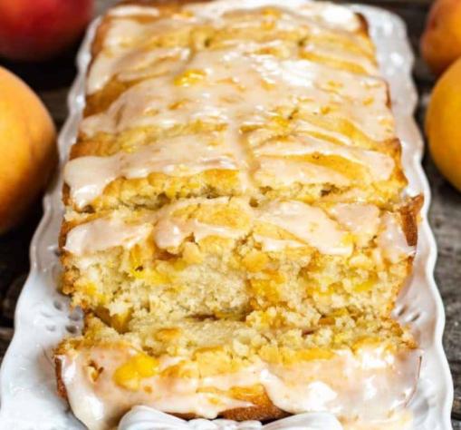 delicious, moist quick peach bread for the summer