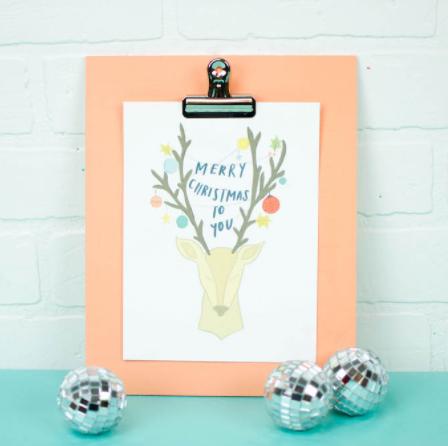 print then cut christmas clipboard decor holiday craft