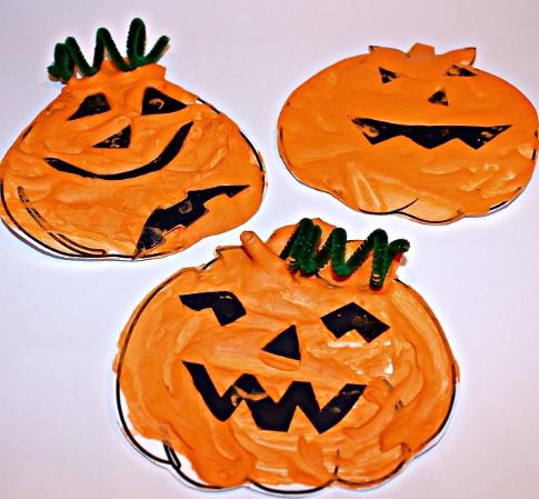 homemade puffy paint recipe pumpkin craft for kids