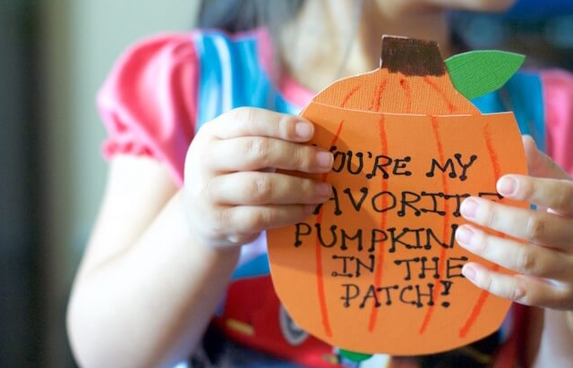 pop-up photo pumpkin card crafts for kids