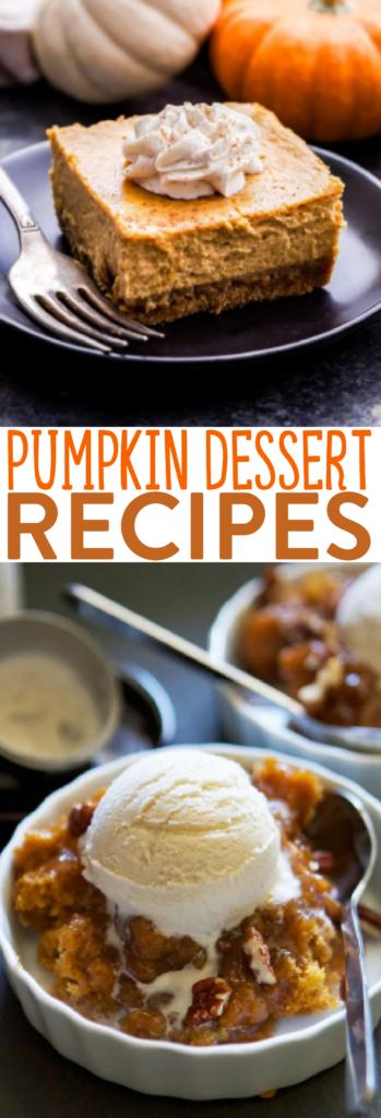 Pumpkin Dessert Recipes roundup