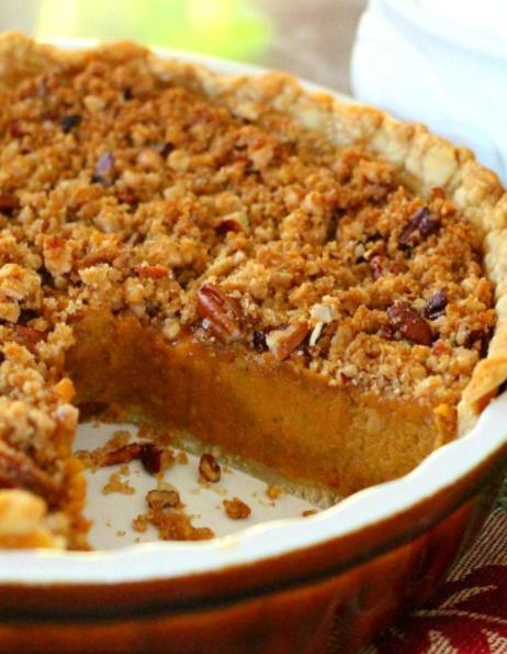 pecan-crunch streusel crumb topped sweet potato pie recipe