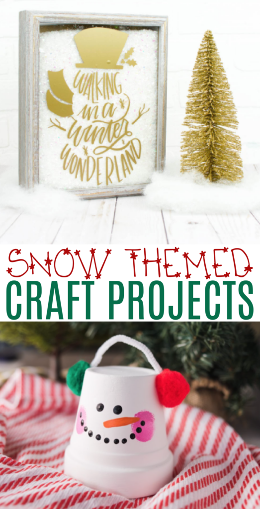 Snow Themed Craft Projects roundup