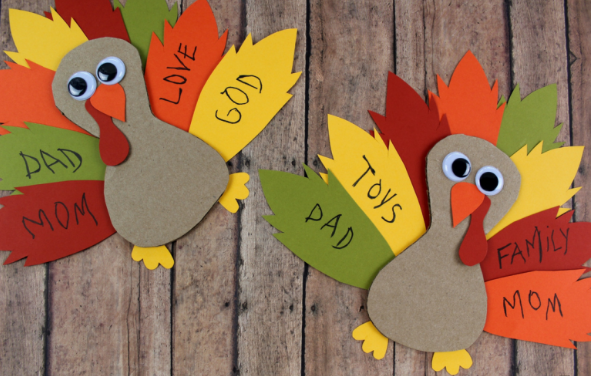 cardboard thankful turkey craft colorful project for kids