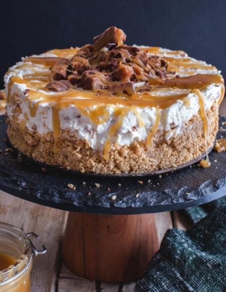 A creamy, smooth, silky cinnamon roll cheesecake for dessert, holidays, and birthdays