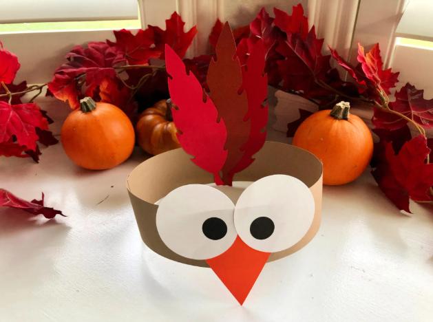 turkey paper headbands holiday thanksgiving craft for kids