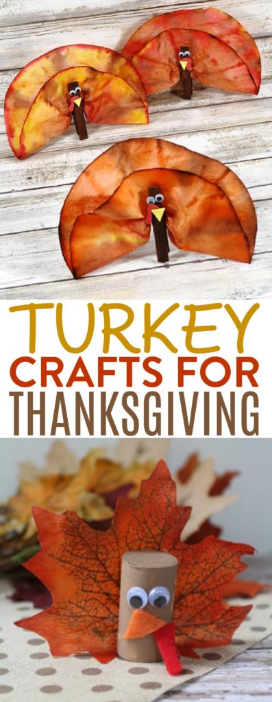 Turkey Crafts for Thanksgiving Roundup