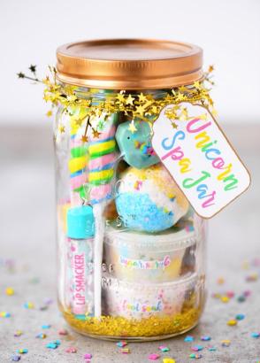 A unicorn spa jar