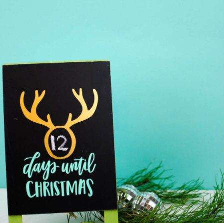 vinyl christmas countdown board craft project