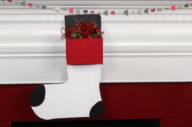 diy wooden stocking hanger holiday home decor