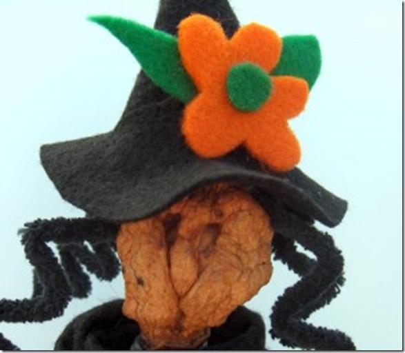 Halloween witch apple head doll