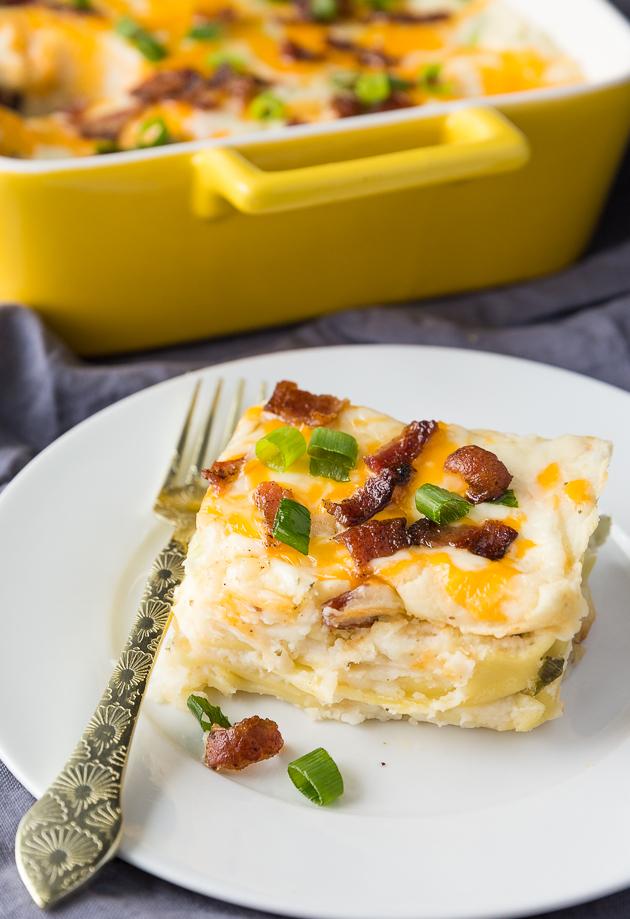 lasagna-style pierogi casserole