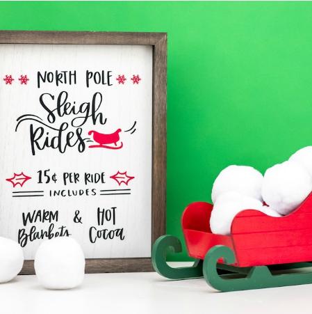 christmas sleigh ride sign diy holiday craft
