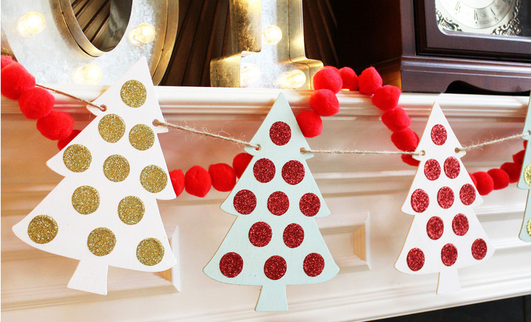 easy and quick diy christmas banner holiday decor