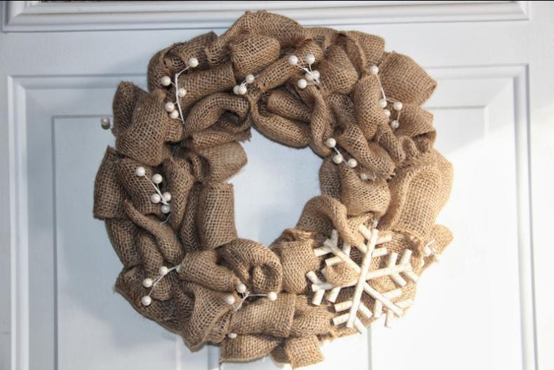 Craft exchange burlap wreath for outdoor decor