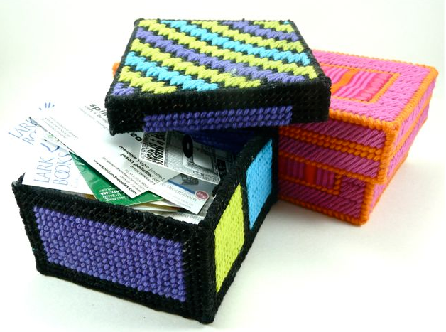 Homemade easy to make colorful crafty storage boxes