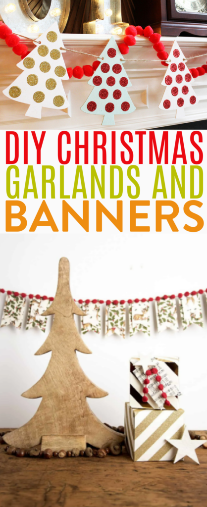 DIY Christmas Garlands and Banners Roundup