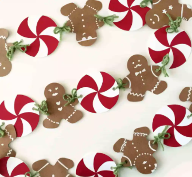 gingerbread man banner tutorial christmas holiday home and party decor