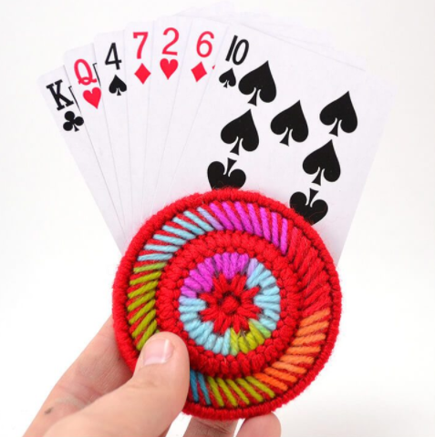 Plastic canvas playing card helper activity craft