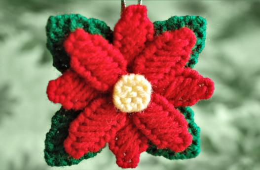 A beautiful flower poinsettia ornament craft