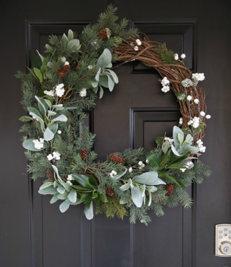 How to make a rustic farmhouse wreath outdoor holiday decor