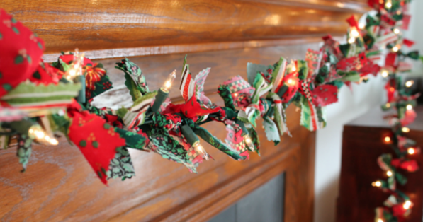 scrappy lighted garland home and party decor