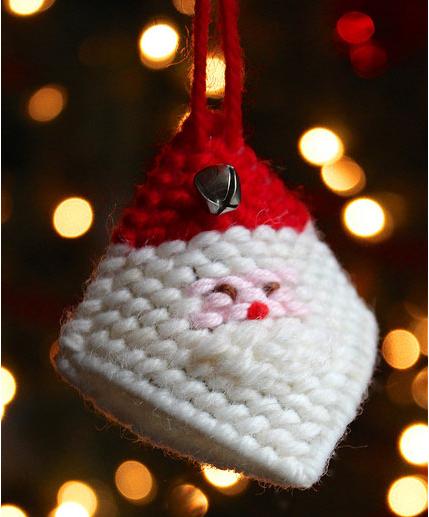 Squeeze Santa's cheek ornament Christmas holiday decor