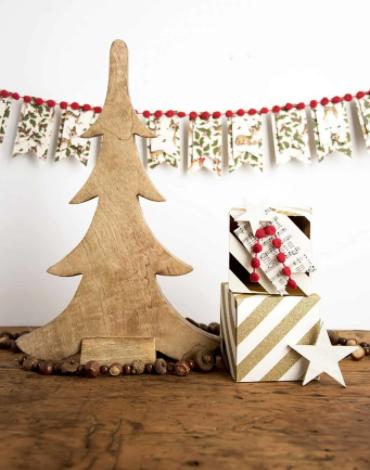 diy christmas banner vintage farmhouse mantel holiday home decor