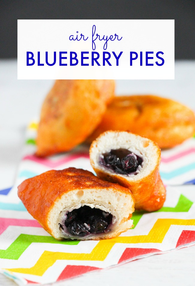 easy and delicious air-fryer blueberry pies recipe