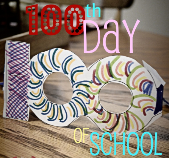 cardstock glasses designed to look like the number 100