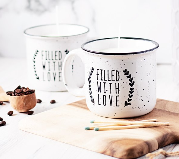 DIY Coffee Candle Mugs Scented Desk Functional Decor