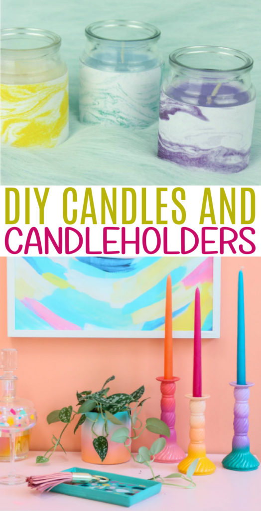DIY Candles and Candleholders Roundup
