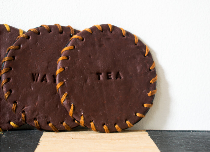 engraved leather coasters