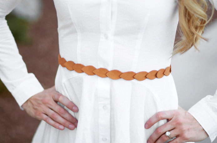leather scalloped belt