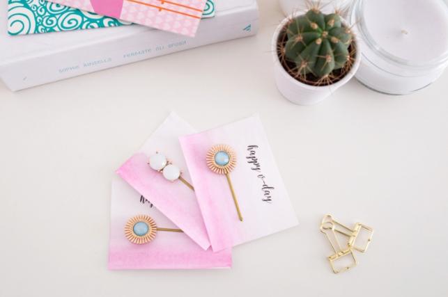 bobby pins embellished with little gemstones