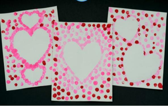 Valentine's Day Heart Thumbprint