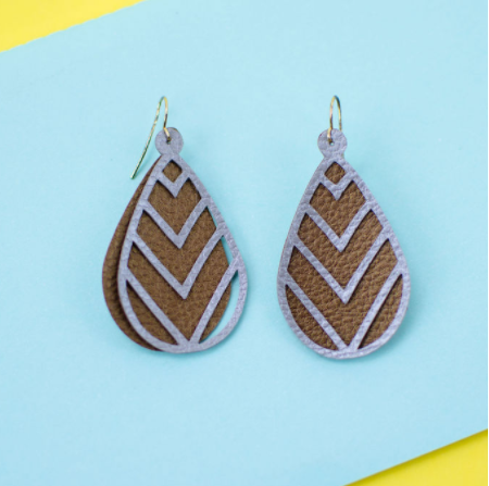 layered leather earrings