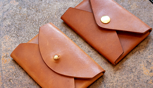 no stitch leather credit card holder
